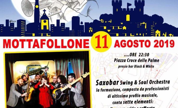 Saxobar orchestra swing in Piazza a Mottafollone 11 agosto 2019