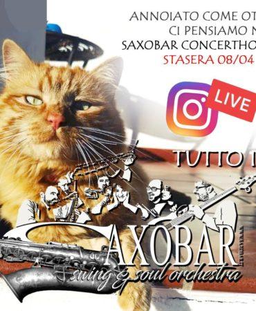 Saxobar live su Instagram|